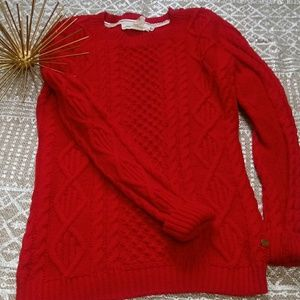 H&M chunky cable knit red sweater size small